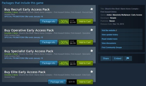 First-Assault-Steam-Early-Access-discount